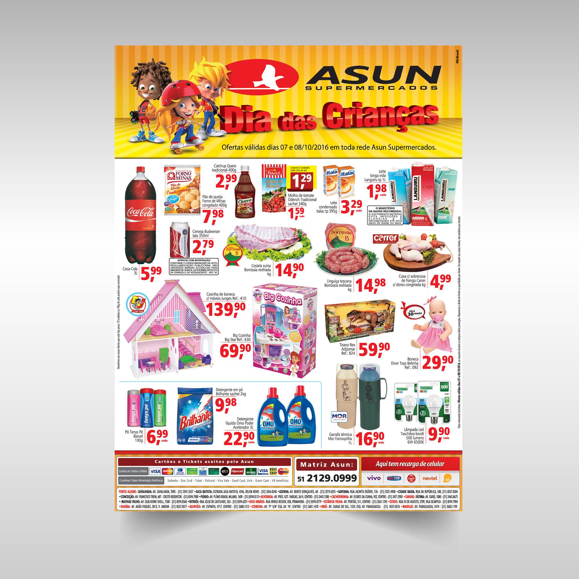 Anúncio Asun Dia das crianças