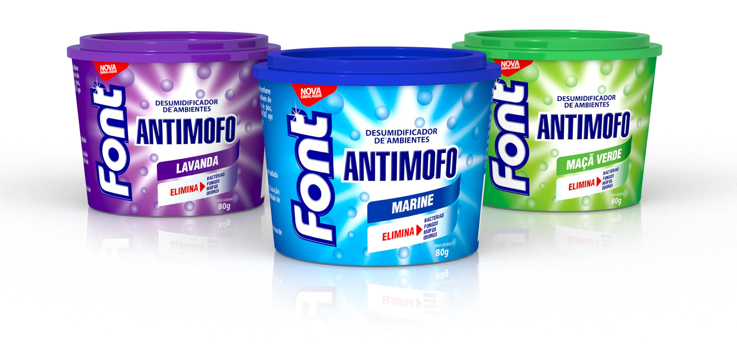 Embalagem Font Antimofo